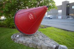 Large red metal cone Marine Dept. 1896 Canada in Victoria.jpg