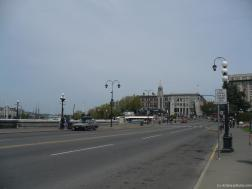 Looking down the street from the The Empress Hotel in Victoria.jpg