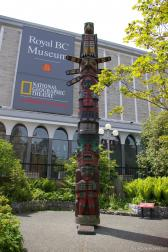 Kwakwaka'wakw Totem Pole in front of the Royal BC Museum in Victoria.jpg