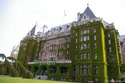 Vine covered front of the The Empress Hotel in Victoria.jpg