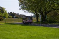 British flag tour bus at Mile 0 Park in Victoria.jpg