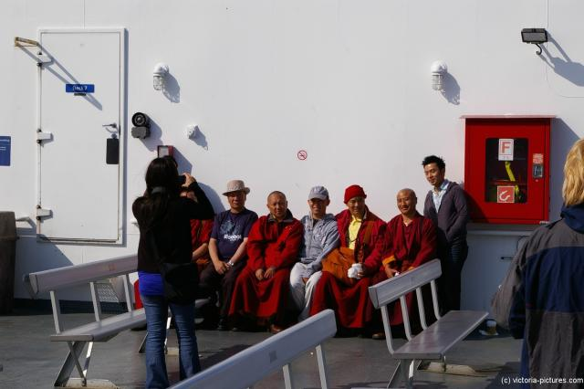Buddist Monks on Deck 7 of the BC Ferries Ferry to Victoria.jpg