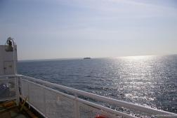 A BC Ferry in the distance as viewed from our ferry to Victoria.jpg